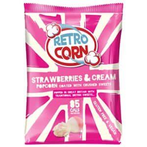 Bag of strawberries and cream popcorn